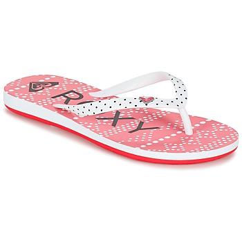 kengät Tytöt Varvassandaalit Roxy RG PEBBLES V G SNDL BRE Red / White / Black