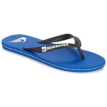 kengät Miehet Varvassandaalit Quiksilver MOLOKAI Black / Blue / White