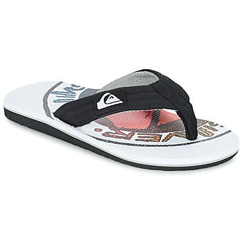 kengät Lapset Varvassandaalit Quiksilver MOLOKAI LAYBACK Black / White / Red
