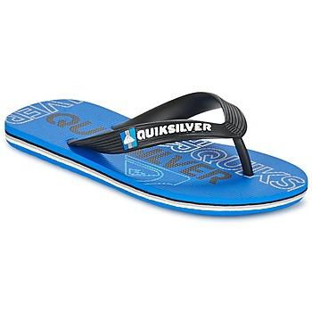 kengät Lapset Varvassandaalit Quiksilver MOLOKAI NITROYT Black / Blue