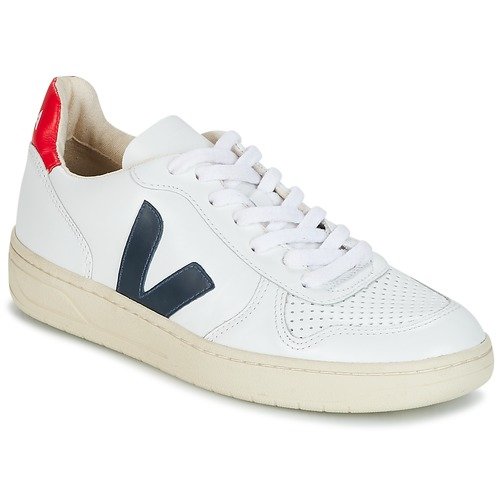 kengät Matalavartiset tennarit Veja V-10 White / Blue / Red