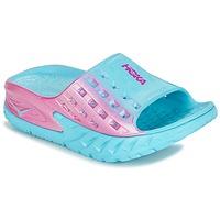 kengät Naiset Vesiurheilukengät Hoka one one W BONDI SLIDE Blue / Pink