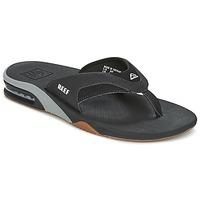 kengät Miehet Varvassandaalit Reef FANNING Black / Grey