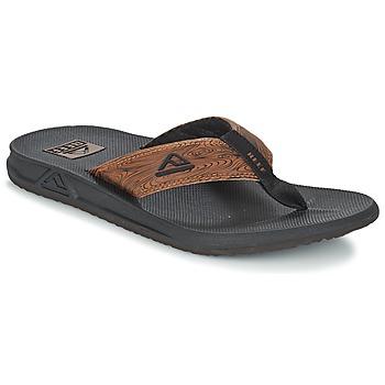 kengät Miehet Varvassandaalit Reef PHANTOM PRINTS Black / Brown