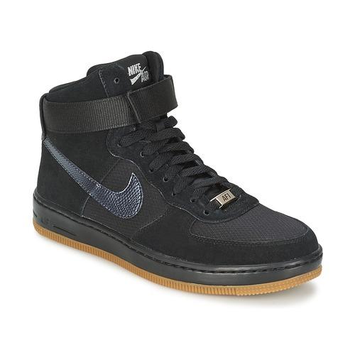 kengät Naiset Korkeavartiset tennarit Nike W AF1 ULTRA FORCE MID Black / Argenté