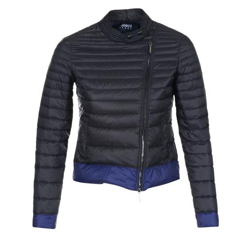 vaatteet Naiset Toppatakki Armani jeans BEAUJADO Black / Blue