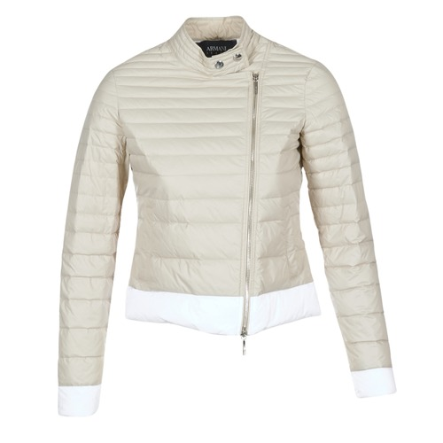 vaatteet Naiset Toppatakki Armani jeans BEAUJADO Beige / White