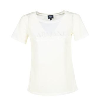 vaatteet Naiset Lyhythihainen t-paita Armani jeans KAJOLA White