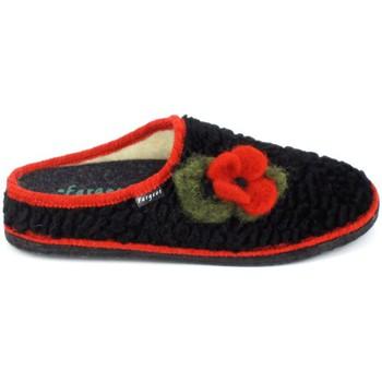 kengät Naiset Tossut Fargeot Siberie Noir Fleur Musta