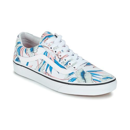 kengät Naiset Matalavartiset tennarit Vans OLD SKOOL White / Blue