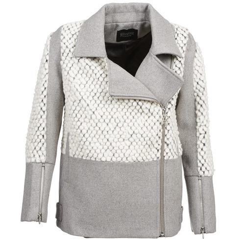 vaatteet Naiset Paksu takki Eleven Paris FLEITZ Grey / Beige