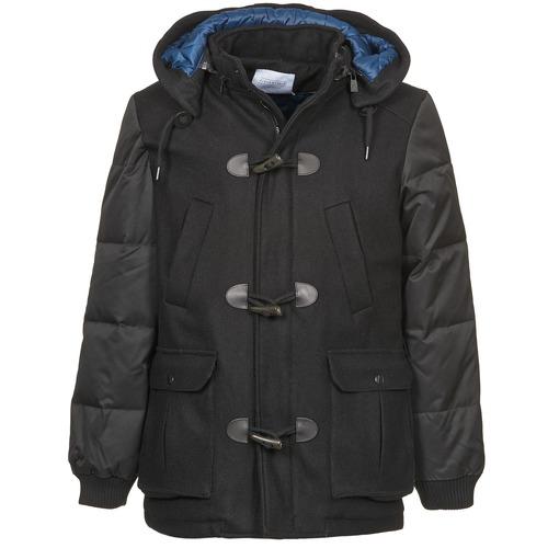 vaatteet Miehet Paksu takki Eleven Paris KINCI Black