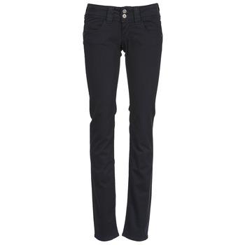 vaatteet Naiset 5-taskuiset housut Pepe jeans VENUS Black