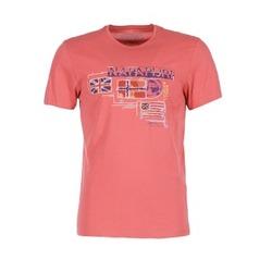 vaatteet Miehet Lyhythihainen t-paita Napapijri VINTAGE CORAIL