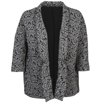 vaatteet Naiset Takit / Bleiserit Sisley FRANDA Black / Grey