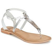 kengät Naiset Sandaalit ja avokkaat Vero Moda VMANNELI LEATHER SANDAL Silver