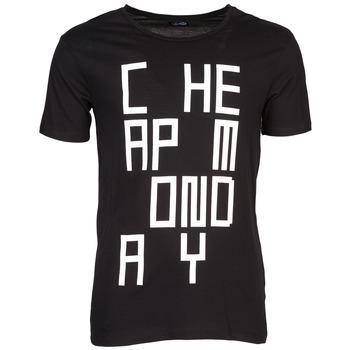 vaatteet Miehet Lyhythihainen t-paita Cheap Monday TYLER Black