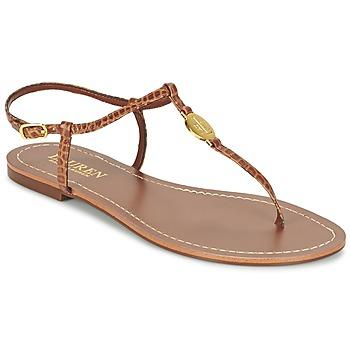 kengät Naiset Varvassandaalit Ralph Lauren AIMON SANDALS CASUAL CAMEL