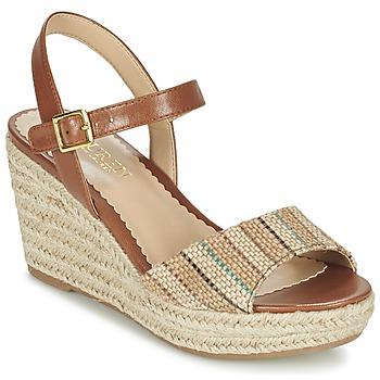 kengät Naiset Sandaalit ja avokkaat Ralph Lauren KEARA ESPADRILLES CASUAL Brown / BEIGE