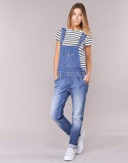 vaatteet Naiset Jumpsuits / Haalarit Lee RELAXED BIB Blue / Clair