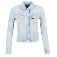 vaatteet Naiset Farkkutakki Lee SLIM RIDER Blue / CLAIR