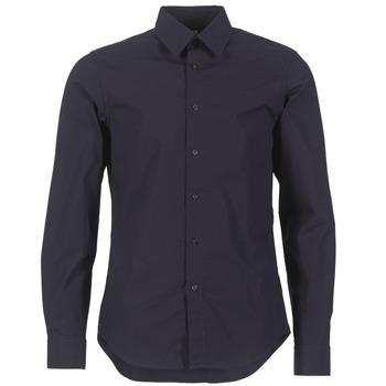 vaatteet Miehet Pitkähihainen paitapusero G-Star Raw CORE SHIRT Laivastonsininen