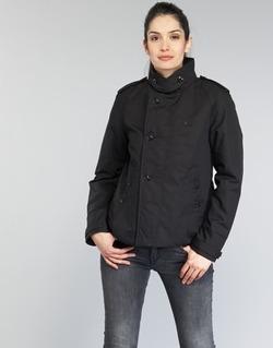vaatteet Naiset Trenssitakki G-Star Raw FLORENCE CROPPED Black