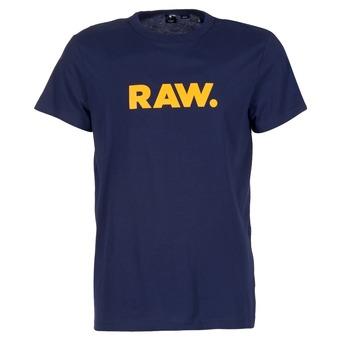 vaatteet Miehet Lyhythihainen t-paita G-Star Raw RAW DOT Laivastonsininen