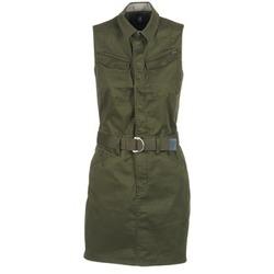 vaatteet Naiset Lyhyt mekko G-Star Raw ROVIC SLIM DRESS S/LESS Kaki