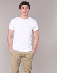 vaatteet Miehet Lyhythihainen t-paita Gant THE ORIGINAL T-SHIRT White