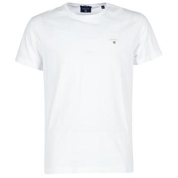 vaatteet Miehet Lyhythihainen t-paita Gant THE ORIGINAL T-SHIRT Valkoinen