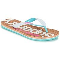 kengät Naiset Varvassandaalit Superdry CORK COLOUR POP FLIP FLOP White / Pink / Blue