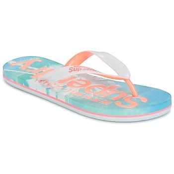 kengät Naiset Varvassandaalit Superdry SUPERDRY AOP FLIP FLOP Pink