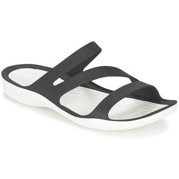 kengät Naiset Sandaalit ja avokkaat Crocs SWIFTWATER SANDAL W Black / White