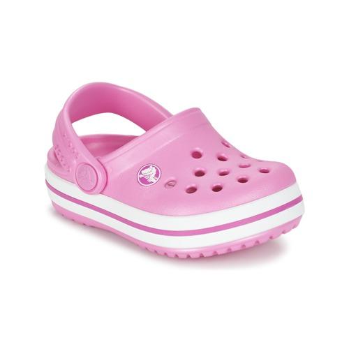 kengät Tytöt Puukengät Crocs Crocband Clog Kids Pink