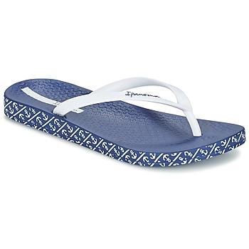 kengät Naiset Varvassandaalit Ipanema ANATOMIC SOFT White / Blue