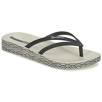 kengät Naiset Varvassandaalit Ipanema BOSSA SOFT Black / BEIGE