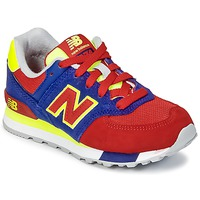 kengät Lapset Matalavartiset tennarit New Balance KL574 Blue / Red / Yellow