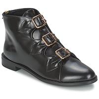 kengät Naiset Nilkkurit F-Troupe Triple Buckle Boot Musta