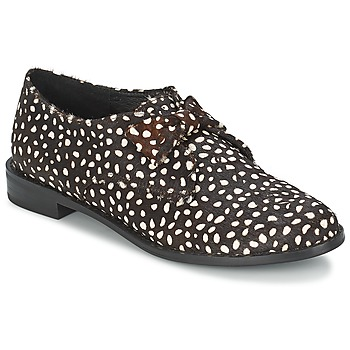kengät Naiset Derby-kengät F-Troupe Bow Polka Musta / Valkoinen