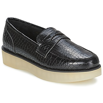kengät Naiset Mokkasiinit F-Troupe Penny Loafer Musta