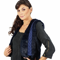 vaatteet Naiset Takit / Bleiserit April First GILET SANS MANCHE Blue