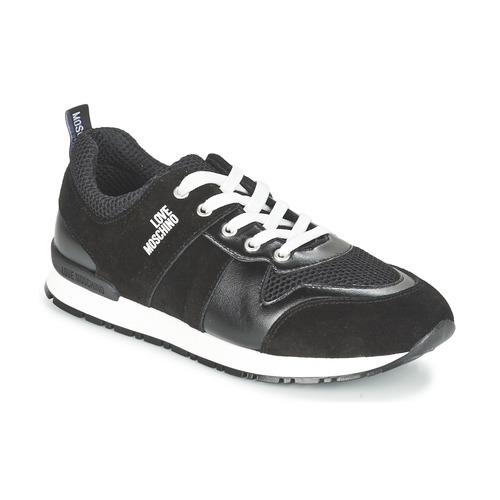 kengät Naiset Matalavartiset tennarit Love Moschino JA15062G13 Black