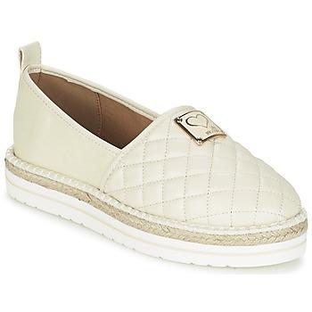 kengät Naiset Espadrillot Love Moschino JA10093G13 Creme