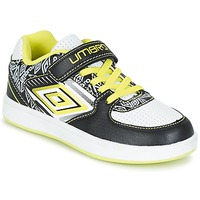 kengät Pojat Matalavartiset tennarit Umbro COGAN Black / White / Yellow