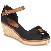 kengät Naiset Sandaalit ja avokkaat Tommy Hilfiger ELBA 40D Musta / Ruskea