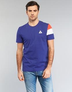 vaatteet Miehet Lyhythihainen t-paita Le Coq Sportif BLUREA Blue