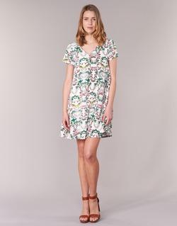 vaatteet Naiset Lyhyt mekko Compania Fantastica EPINETA White / Green / Pink