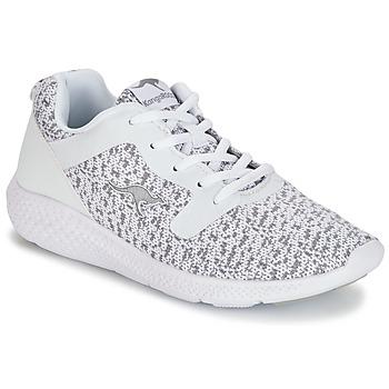 kengät Naiset Matalavartiset tennarit Kangaroos KV 2 White / Grey