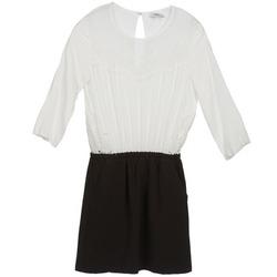 vaatteet Naiset Lyhyt mekko Suncoo CELESTINE Black / White